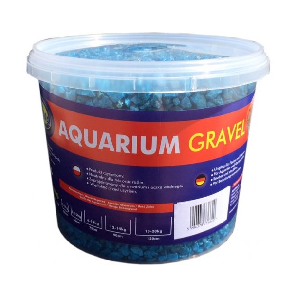 Akvariegrus Flourecent blå 5kg