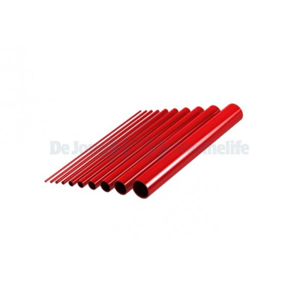 12*1000mm - Red PVC Tube